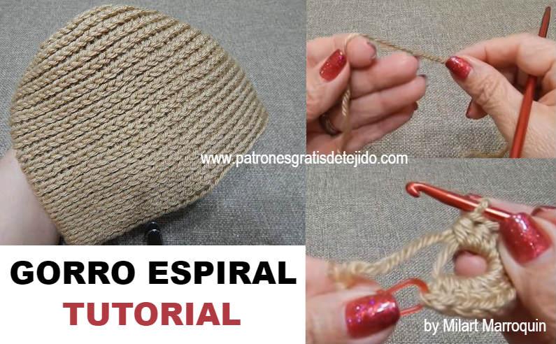 Cómo tejer gorro casquete a crochet   Tutorial  092c5875528