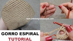 Cómo tejer gorro casquete a crochet / Tutorial