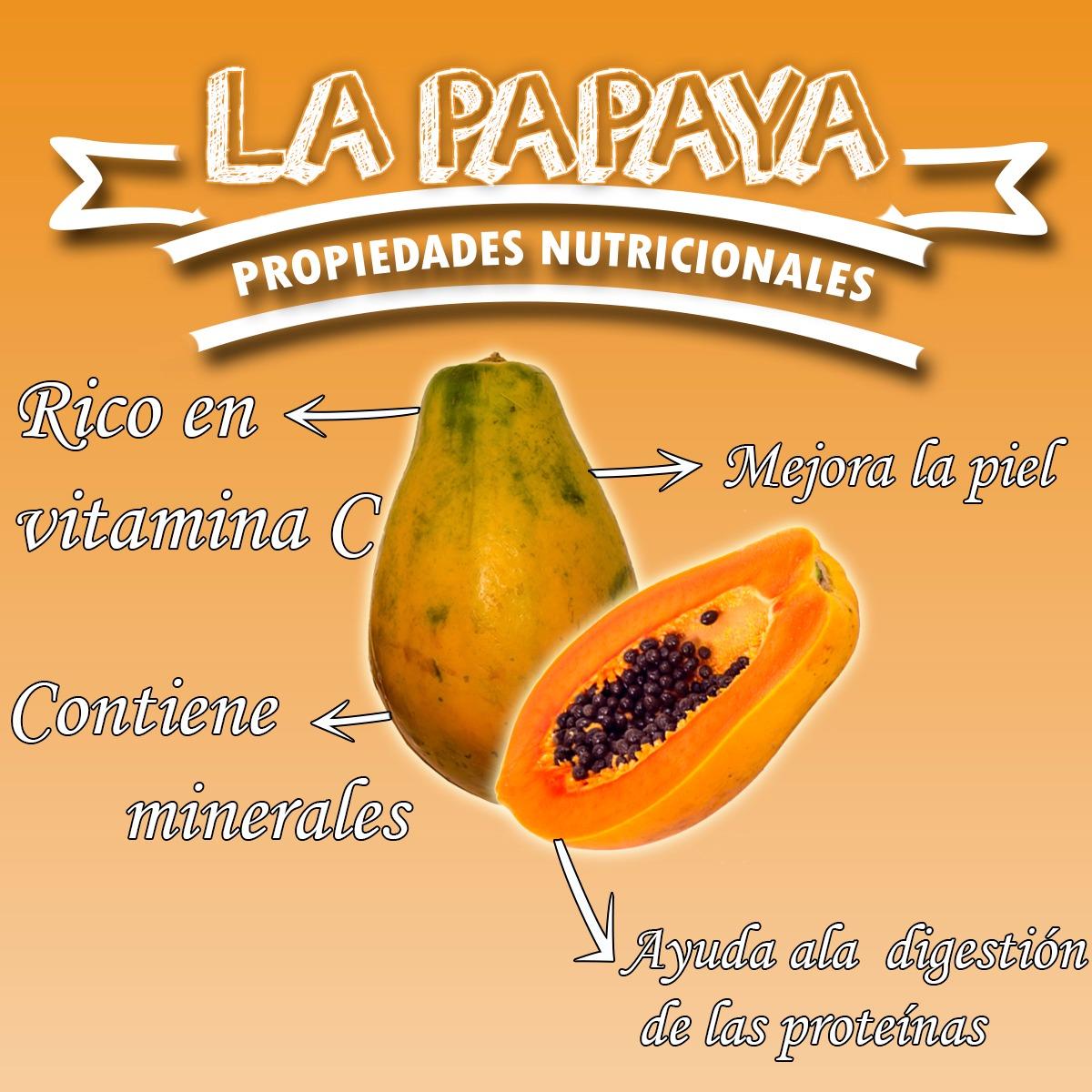 la papaya propiedades nutritivas y beneficios para la salud