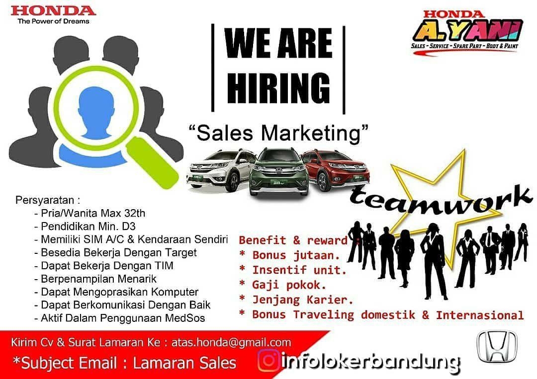 Lowongan Kerja Honda Ahmad Yani Bandung Agustus 2018