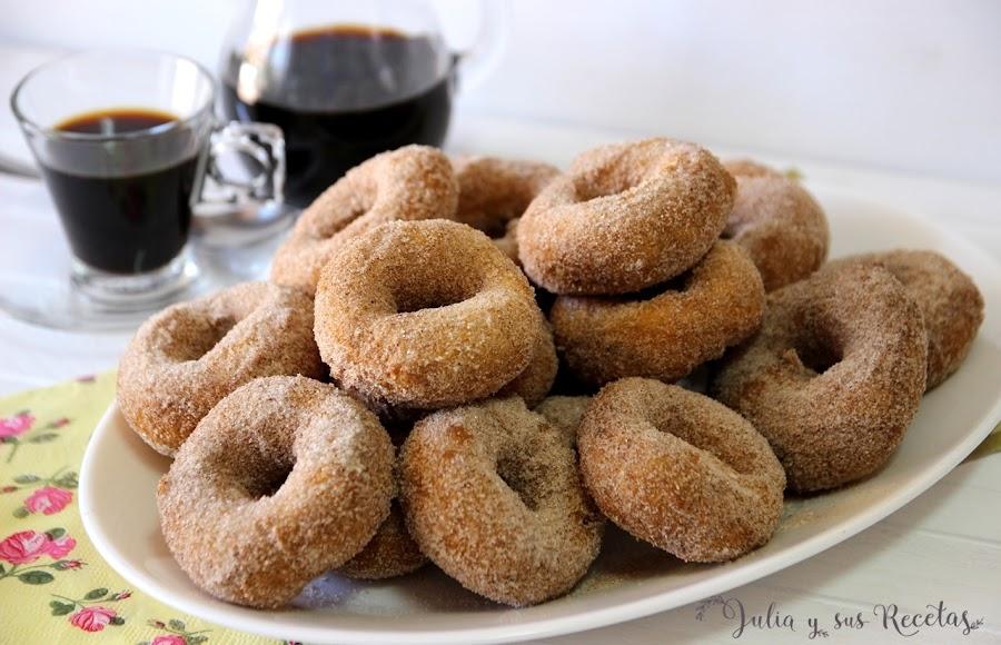 Rosquillas fritas sin gluten. Julia y sus recetas