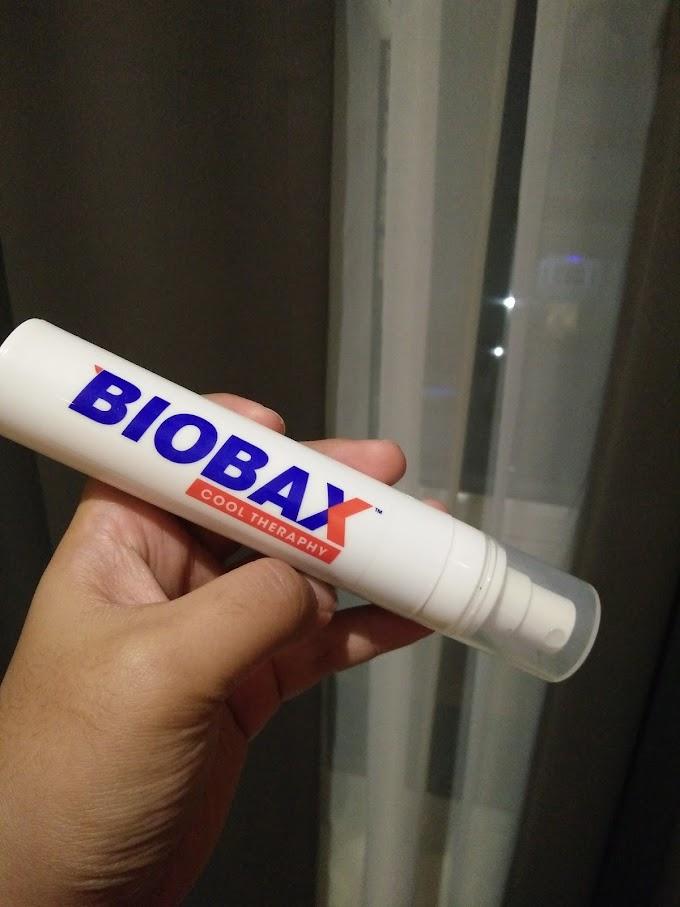 Sebelum tidur sembur Biobax Cool Theraphy. Baru hilang lenguh!