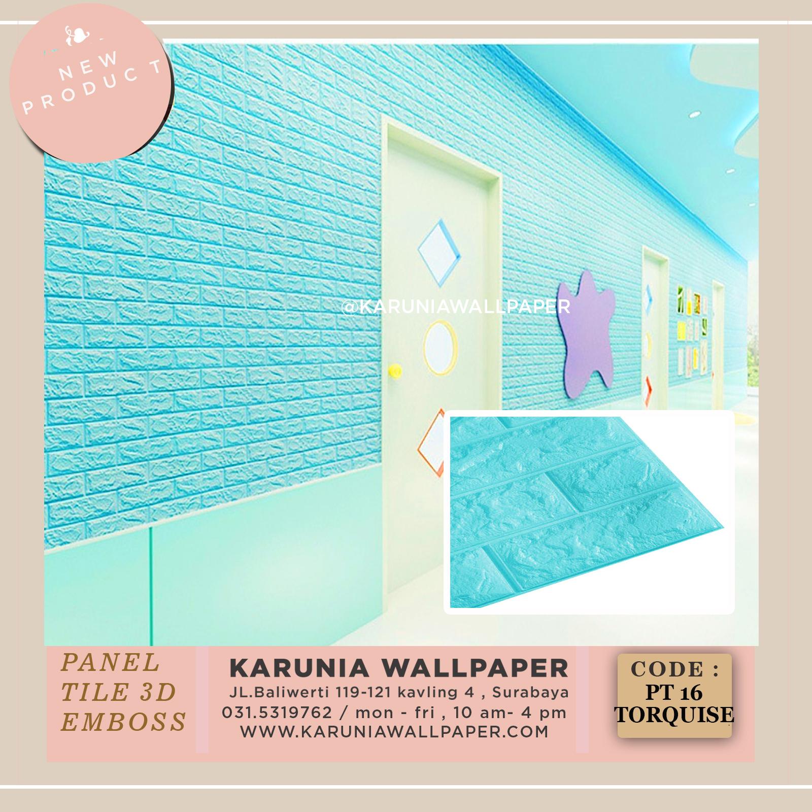 dinding bata biru