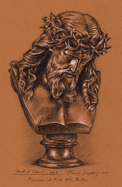 Jesus Christ. Bronze Bust. Museum of Fine Arts, Boston. by Travis Simpkins