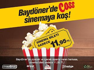 baydöner sinema bileti kampanyası