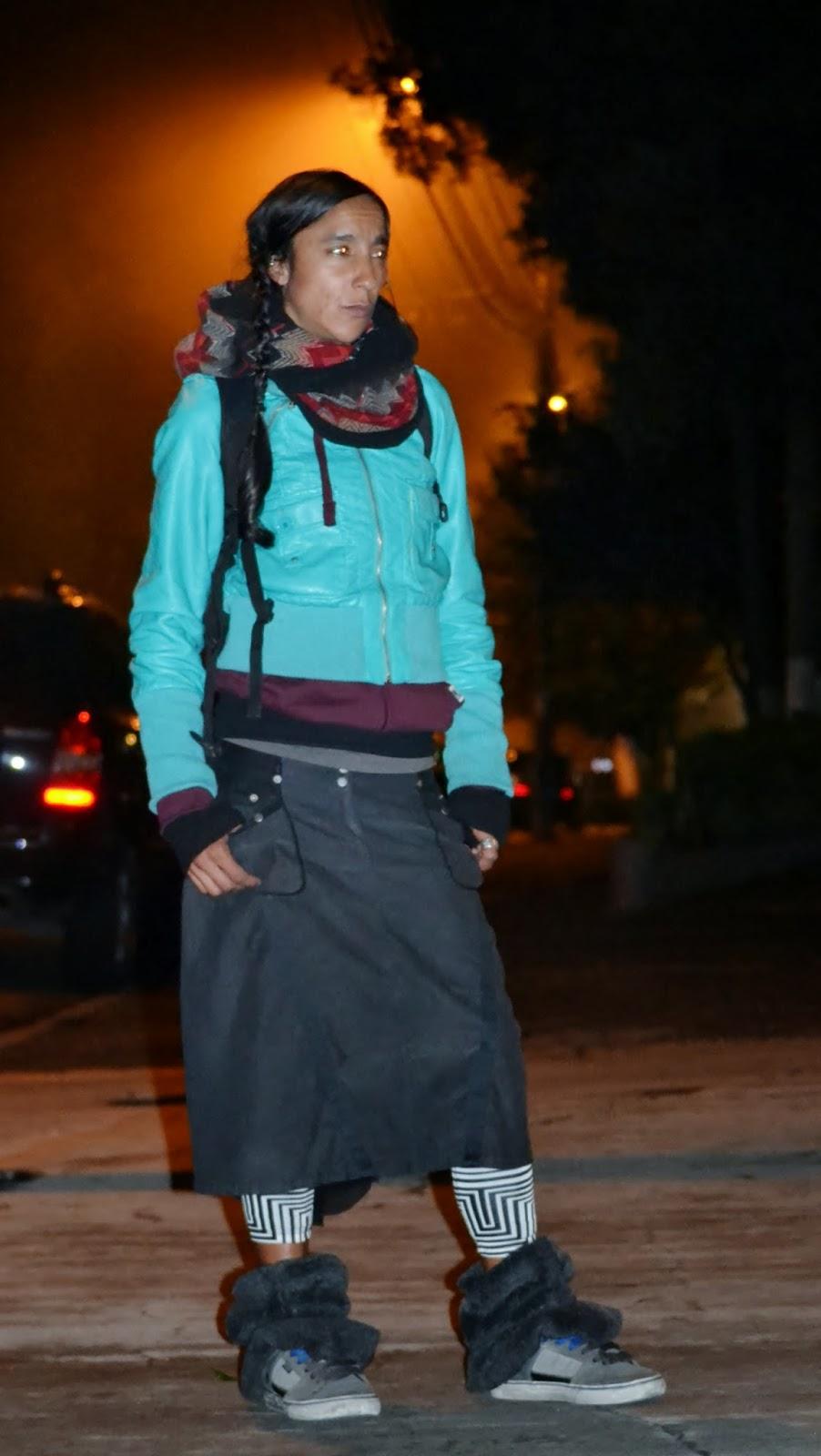 Flaca paseando en leggigns vinilo 6