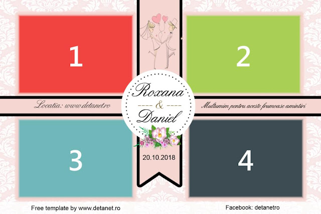 Wedding photobooth template pink