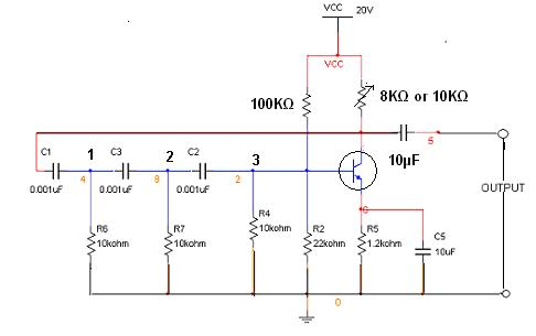 rc wiring diagram rc phase shift oscillator electronic devices and circuits ...