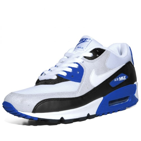 DamskieMęskie Nike Air Max 90 LTR GS 105 biały, niebieski