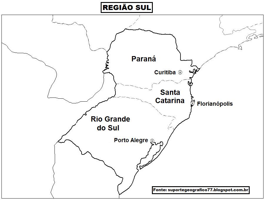 Aparador Wengue Y Plata ~ MAPA REGIÃO SUL SUPORTE GEOGRÁFICO