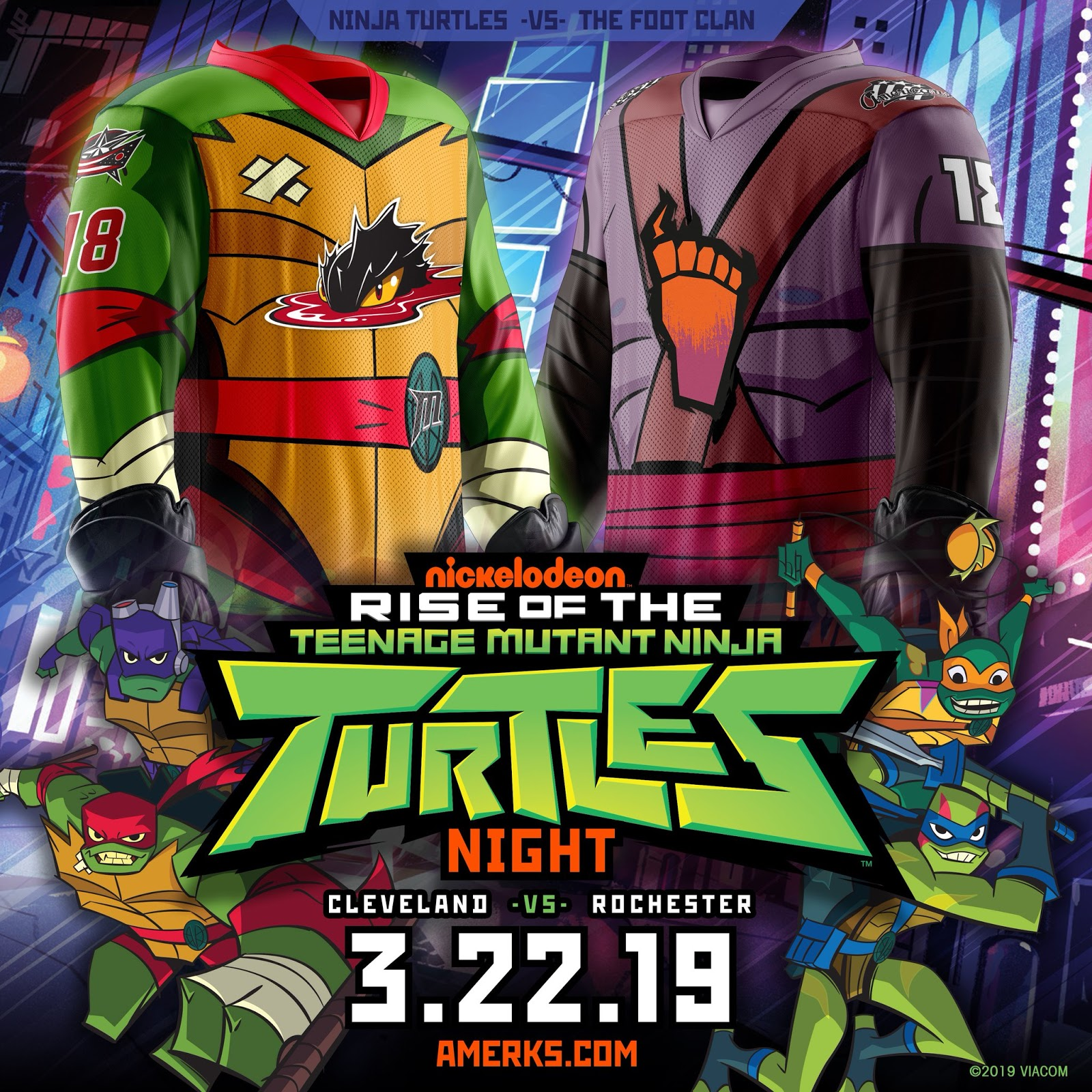 8a1c5c9773f ... Monsters, have announced a special two-game home-and-home series of  Nickelodeon Nights featuring the Nickelodeon's iconic Teenage Mutant Ninja  Turtles!