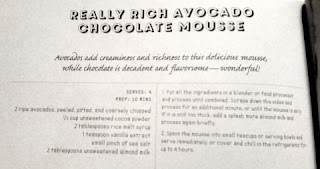 avocado chocolate mousse recipe