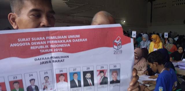 KPU Sukabumi Temukan Ratusan Surat Suara DPD RI Rusak