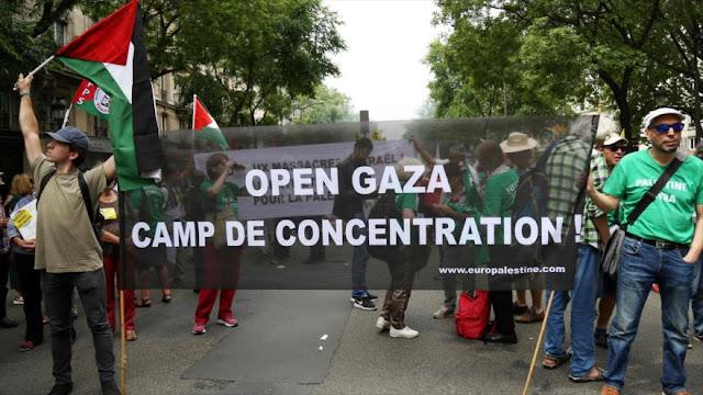 Franceses repudian actos criminales de Israel en Gaza