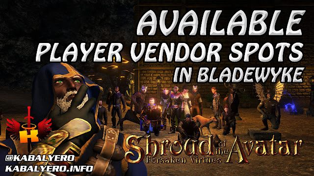 Vendor Spots Available In Bladewyke, A Town Next To Etceter 🏠 Shroud Of The Avatar (Town Check)