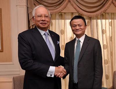 Jack Ma and Najib Razak