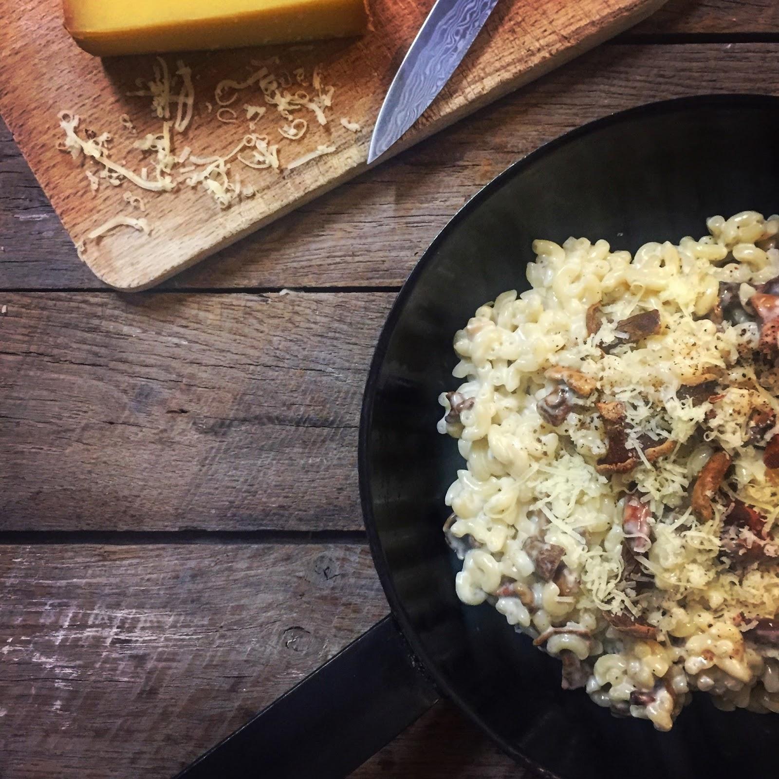 coquillettes comté fromage chanterelles champignon facile rapide simple cuisine régressive r