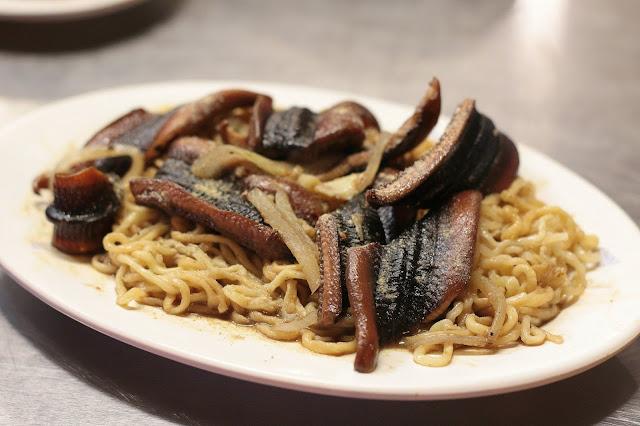 台南二哥炒鱔魚、花枝