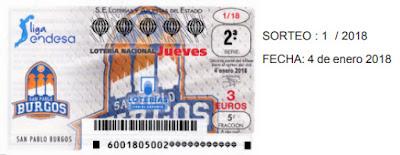 detalle de los décimos del sorteo de loteria nacional del jueves