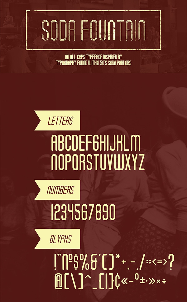 Download Gratis Font Terbaru September 2015 - Soda Fountain - Free Typeface
