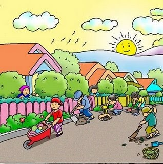 Gambar Kerja Bakti Di Lingkungan Sekolah Kartun 90 Gambar Animasi Kerja Bakti Di Rumah Hd Gambar Rumah