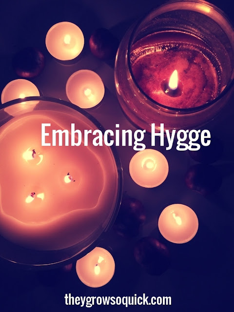 Embracing Hygge,  candles and conkers, cosy