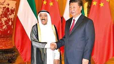 أمير الكويت الشيخ صباح الأحمد ورئيس الصين