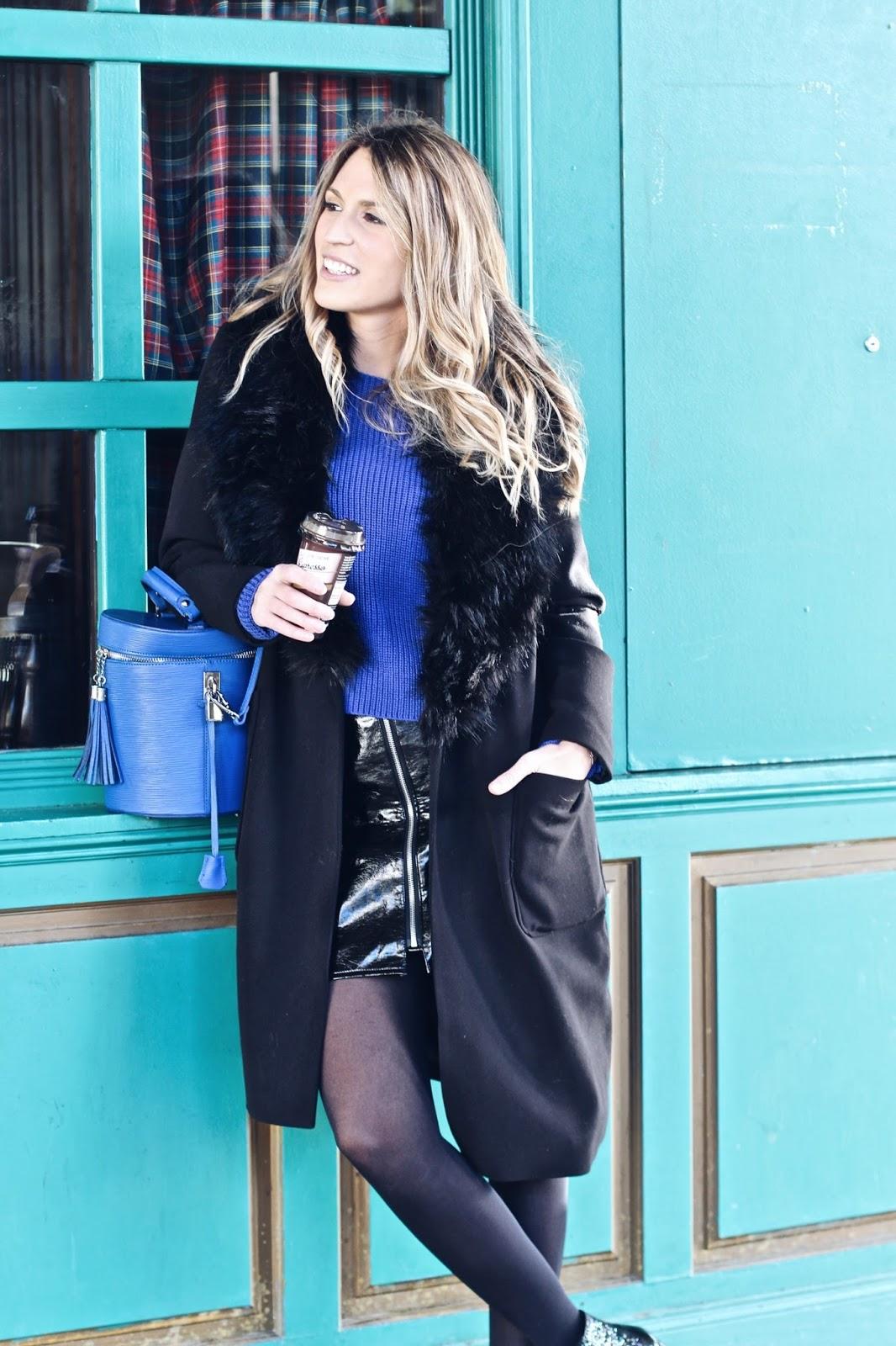 abrigo negro pelo