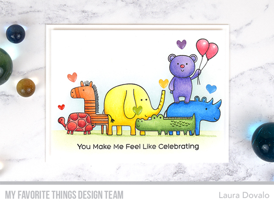 Handmade card by Laura Dovalo featuring products from My Favorite Things #mftstamps