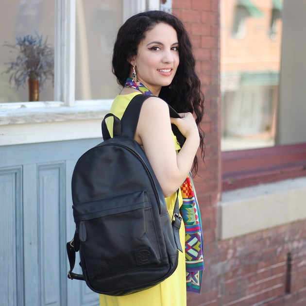 MAHI Black Leather Backpack Review