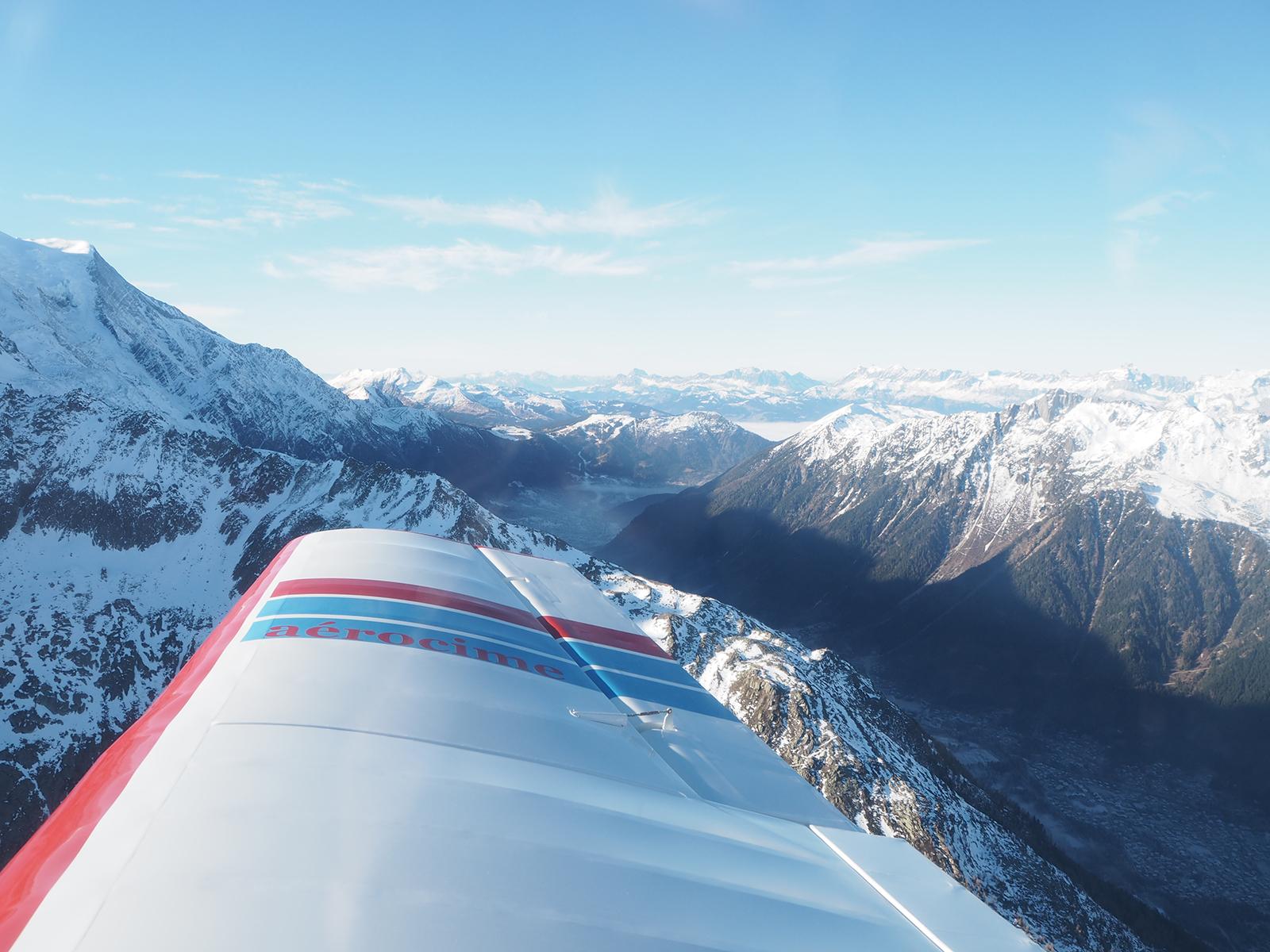 La vallée blanche en avion