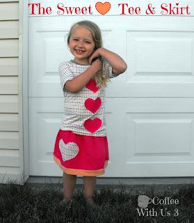 sweetheart skirt tee