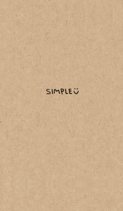 Be absorbed, simple. Kraftpaper ver