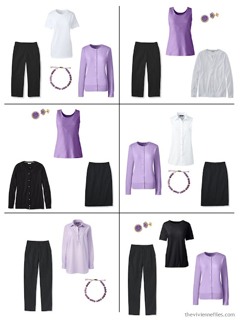 six ways to wear lavender with black and white in the spring and summer
