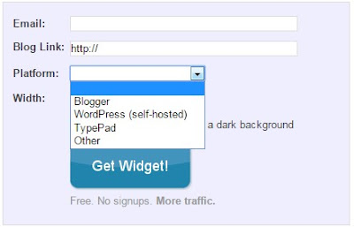 pilih platform blogger, wordpress