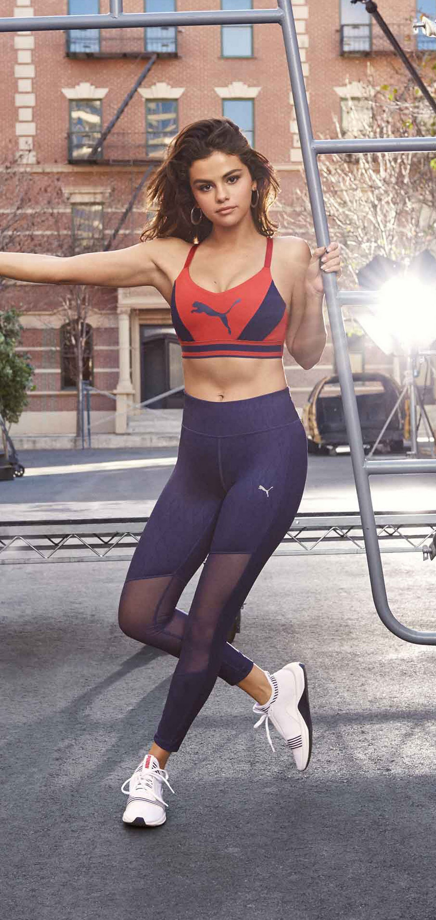 Selena Gomez Puma Model Brunette Women 4k Wallpaper 320