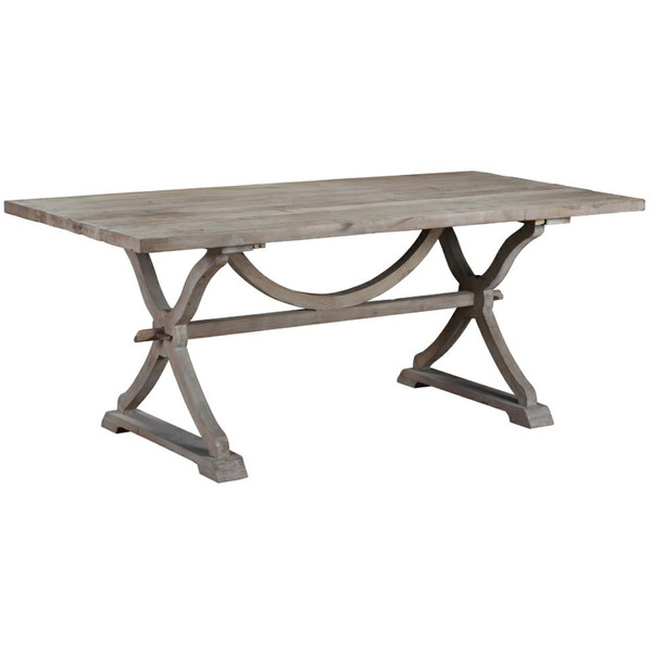 Cool A rectangular French farmhouse style dining table perfect for entertaining and family dinners It us