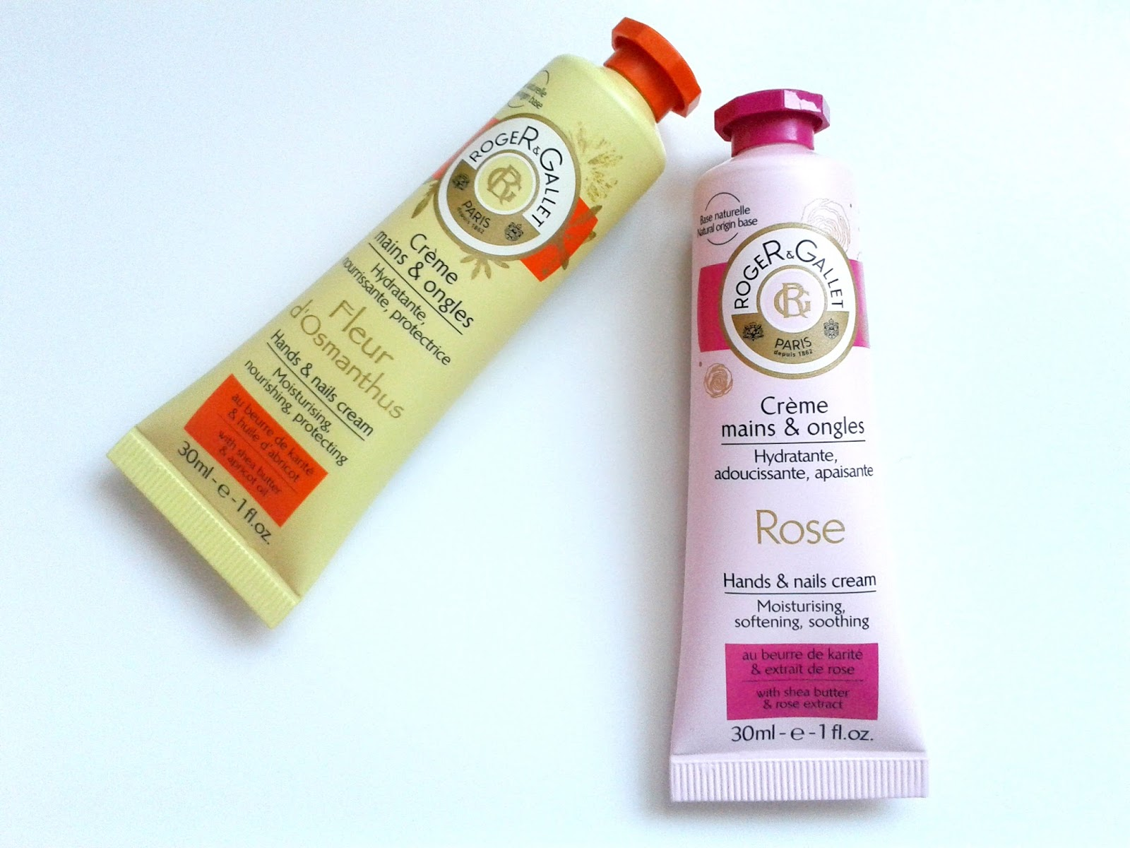 Roger & Gallet Hand & Nails Creams (in Rose and Fleur d'Osmanthus) Review Get Ready for summer: body Ellis Tuesday's Summer Sun-days: Body