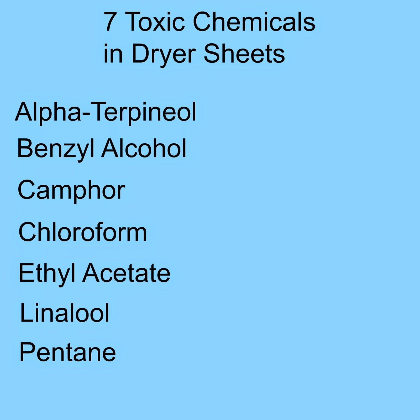 7 toxic chemicals commercial in dryer sheet