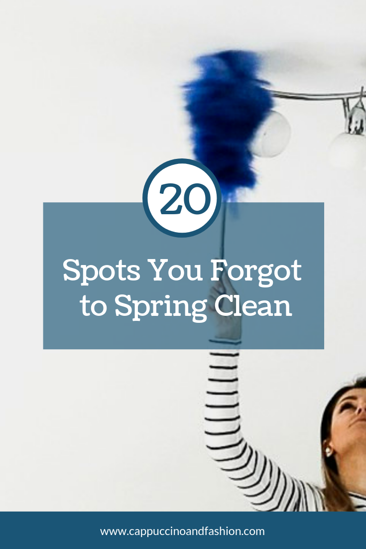 20 spots you forgot to spring clean