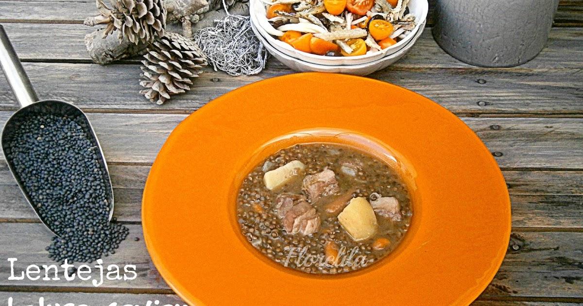 Florelila recetas y aficiones lentejas beluga caviar - Lentejas con costillas y patatas ...