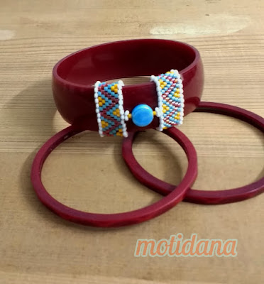 beaded bangles, boho chic, tribal bling