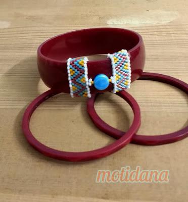 beaded bangles, boho chic, tribal bling