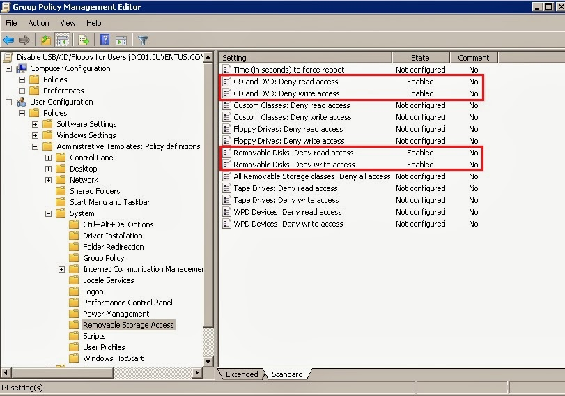 GPO : Disable USB / CD Drive / Floppy    with Group Policy Object in
