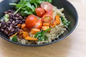 Sweet potatoes and black bean salad