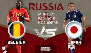 مشاهدة مباراة بلجيكا ضد اليابان Belgium vs Japan Live Streaming بث مباشر 2-7-2018 كأس العالم