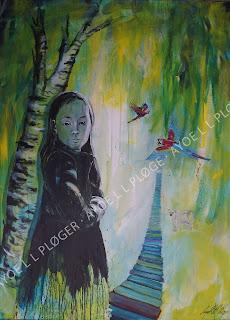 ren luft,greenkids,maleri,art,kunst,glade farver,papegøje,kakadue,clean world,fish,clean wather,pas på naturen