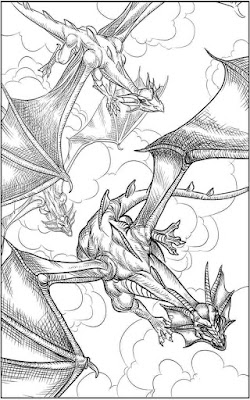 dragon fantasy coloring pages