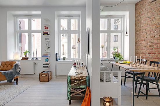 Desain interior apartment bertema scandinavian