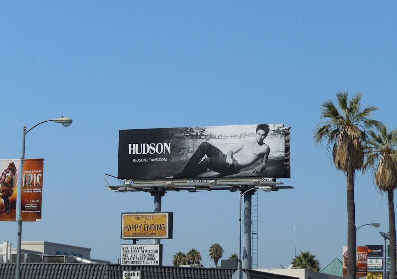 Hudson Jeans male model billboard